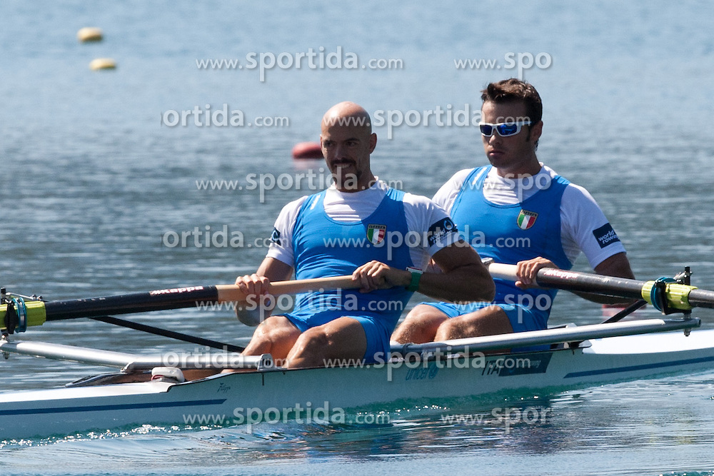 MORNATI Niccolo and CARBONCINI Lorenzo of Italy during Men's Pair at Rowing World Championships Bled 2011 on September 3, 2011, in Bled, Slovenia. (Photo by Matic Klansek Velej / Sportida)