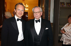 Left to right, DR SIMON THURLEY and DR DAVID STARKEY at The Royal Academy dinner before the official opening of the Summer Exhibition held at the Royal Academy of Art, Burlington House, Piccadilly, London W1 on 6th June 2006.<br />