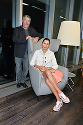 PHILIPPE STARCK and JASMINE STARCK at the YOO 15 Anniversary Party hosted by John Hitchcox and Philippe Starck at Bankside, SE1 on 17th September 2014