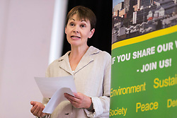 &copy; Licensed to London News Pictures. 2/6/2017 SHEFFIELD   , UK.  <br /> The Green Party at the  Broomhall Centre in Sheffield today (Friday 2nd June 2017) for their general election campaign. The party&rsquo;s co-leader Caroline Lucas (pictured) and former leader, Natalie Bennett spoke defending migrants&rsquo; contribution to Britain and pledge their support for continued free movement within Europe. Caroline Lucas spoke yesterday to condemn Donald Trump's decision to pull out of the Paris climate agreement.<br />   <br /> Photo credit: CHRIS BULL/LNP