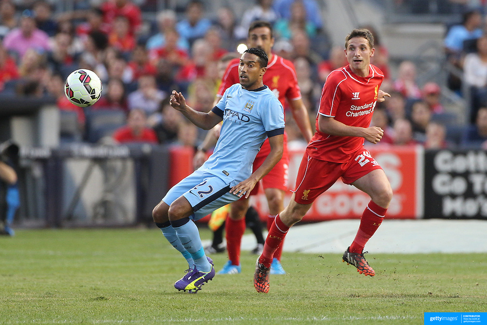 Gael Clichy, Manchester City, in action during the Manchester City Vs Liverpool FC Guinness International Champions Cup match at Yankee Stadium, The Bronx, New York, USA. 30th July 2014. Photo Tim Clayton