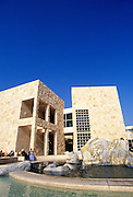 Image of the inner courtyard of The Getty Center in Brentwood, Los Angeles, California, America west coast