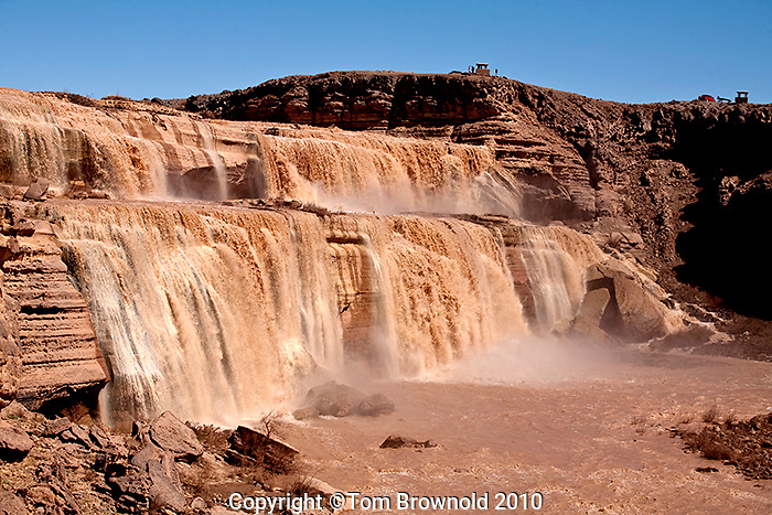 Grand Falls of the Little Colorado river (is also known as Chocolate falls)  on the Navajo reservation.