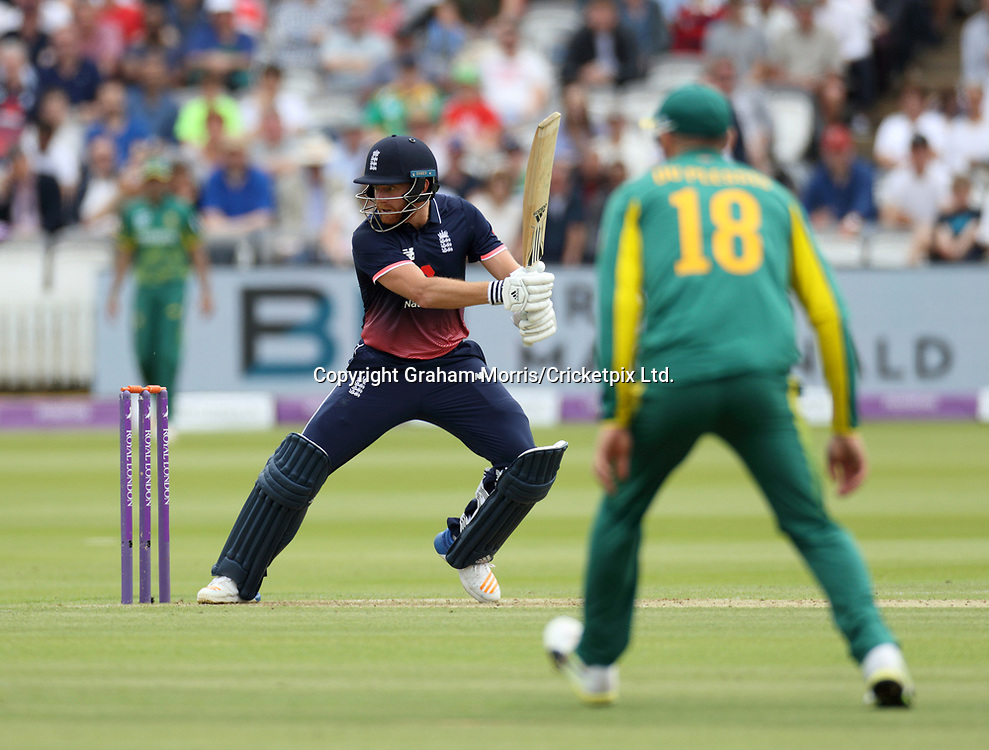 Jonny Bairstow bats during the third and final Royal London One Day Series match between England and South Africa at Lord's. Photo: Graham Morris / www.photosport.nz