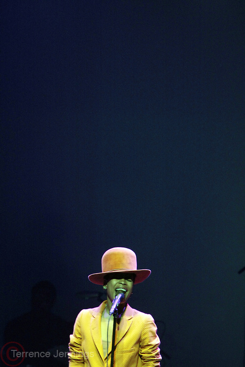 Los Angeles, CA-June 28:  Recording Artist Erykah Badu performs during the 2013 BET Awards Experience held at  Nokia Theater LA Live on June 28, 2013 in Los Angeles, CA. © Terrence Jennings