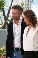 Actor Vincent Cassel and actress Emmanuelle Bercot at the Mon Roi film photo call at the 68th Cannes Film Festival Sunday May 17th 2015, Cannes, France.
