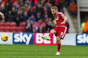 Middlesbrough FC midfielder Adam Clayton (8) during the Sky Bet Championship match between Middlesbrough and Nottingham Forest at the Riverside Stadium, Middlesbrough, England on 23 January 2016. Photo by George Ledger.