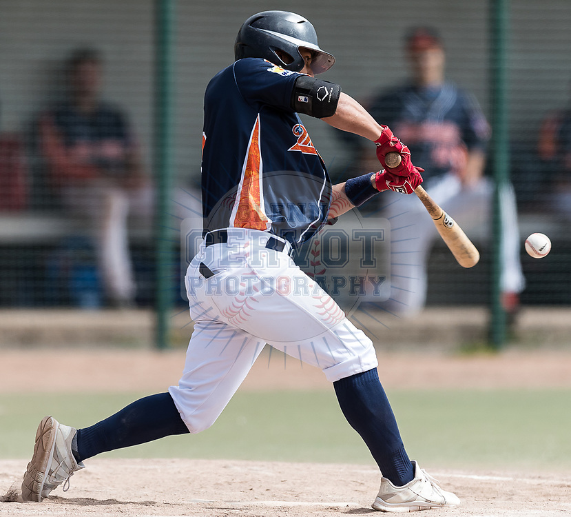 Photos taken during the 2017 French Division 1 Baseball championship 4th day.<br /> The game opposed the Montpellier Barracudas to the Montigny-Le-Bretonneux Cougars.<br /> Montpellier won 1-0.<br /> 23/04/2017<br /> Credit Photo : Glenn Gervot Photography