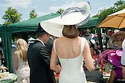 KIM WORSOE; ISABEL KRISTENSEN, Royal Ascot. Tuesday. 14 June 2011. <br /> <br />  , -DO NOT ARCHIVE-© Copyright Photograph by Dafydd Jones. 248 Clapham Rd. London SW9 0PZ. Tel 0207 820 0771. www.dafjones.com.