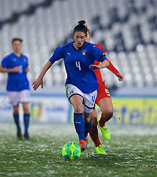 CESENA, ITALY - Tuesday, January 22, 2019: Italy's Laura Fusetti during the International Friendly between Italy and Wales at the Stadio Dino Manuzzi. (Pic by David Rawcliffe/Propaganda)