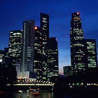 City skyline view @ night