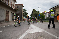 Malgorzata Jasinska (POL) of Cylance Pro Cycling leans into a corner during Stage 3 of the Giro Rosa - a 100 km road race, between San Fior and San Vendemiano on July 2, 2017, in Treviso, Italy. (Photo by Balint Hamvas/Velofocus.com)