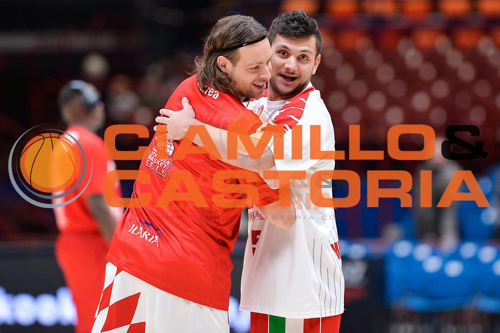 Gentile Alessandro,Antonutti Michele<br /> Olimpia EA7 Emporio Armani Milano vs The Flexx Pistoia<br /> Basket Serie A 2016/2017<br /> Milano 27/11/2016<br /> Foto Ciamillo-Castoria