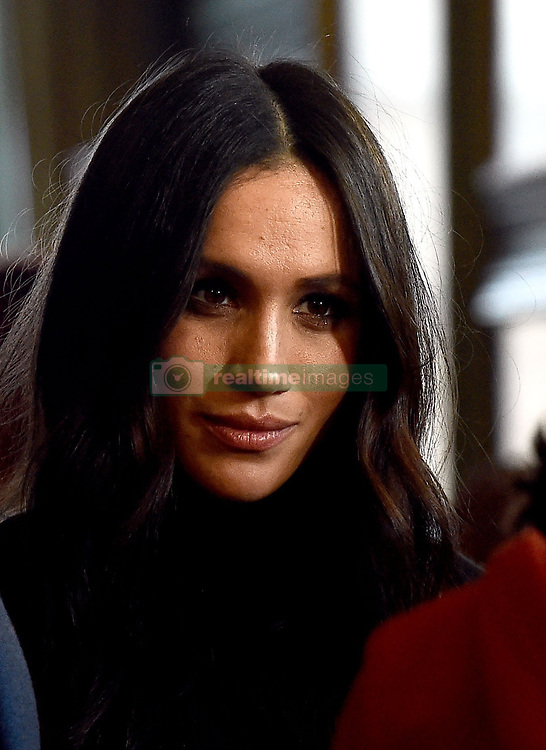 Meghan Markle during a reception for young people at the Palace of Holyroodhouse, in Edinburgh, during their visit to Scotland.