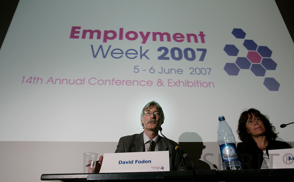 BRUSSELS - BELGIUM - 05 JUNE 2007 -- Employment Week 2007 -- From left David FODEN, Research Manager, European Foundation for the Improvement of Living and Working Conditions and Anna NITZELIUS, Deputy Director, Ministry of Employment, Division of Labour Law and Work Environment Sweden. Photo: Erik Luntang/INSPIRIT Photo