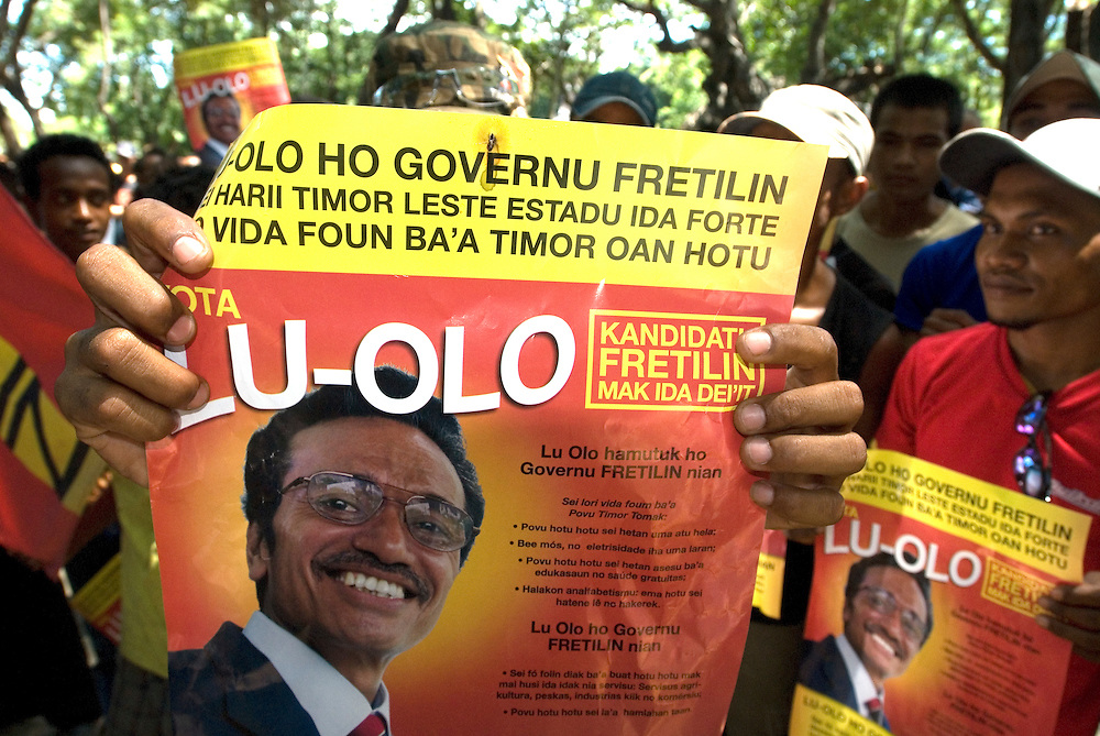 Fretilin political rally for Francisco Guterres (Lu Olo), candidate for East Timor's Presidential Elections.
