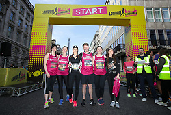 Amanda Holden (centre) and participants from Tommy's charity during the 2019 London Landmarks Half Marathon.