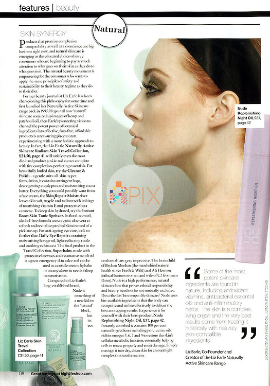 Beauty feature in BRITISH AIRWAYS HIGHLIFE UK :: August/September 2011