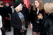 JAMIE WINSTONE; MARGOT BOWMAN; , English National Ballet launches its Christmas season with a partyu before s performance of The Nutcracker at the Coliseum.  St. Martin's Lane Hotel.  London. 16 December 2009 *** Local Caption *** -DO NOT ARCHIVE-© Copyright Photograph by Dafydd Jones. 248 Clapham Rd. London SW9 0PZ. Tel 0207 820 0771. www.dafjones.com.<br /> JAMIE WINSTONE; MARGOT BOWMAN; , English National Ballet launches its Christmas season with a partyu before s performance of The Nutcracker at the Coliseum.  St. Martin's Lane Hotel.  London. 16 December 2009