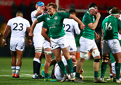 Liam Turner of Ireland U20 celebrates at the final whistle - Mandatory by-line: Ken Sutton/JMP - 01/02/2019 - RUGBY - Irish Independent Park - Cork, Cork - Ireland U20 v England U20 -
