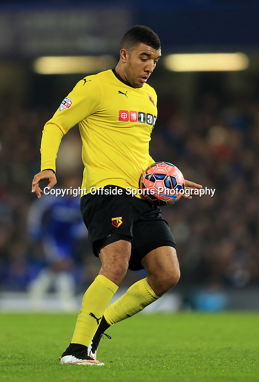 4 January 2015 - The FA Cup 3rd Round - Chelsea v Watford - Troy Deeney of Watford - Photo: Marc Atkins / Offside.