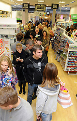 © Licensed to London News Pictures. 28/11/2014 <br /> A very busy game store in Bluewater. People queuing for an Hour .<br />  Black Friday shoppers at Bluewater in Kent today (28.11.2014)<br /> (Byline:Grant Falvey/LNP)