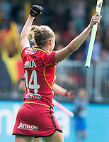 ANTWERP -    Emilie Sinia from Belgium  scored during  the match of Belgium v Poland .   WSP COPYRIGHT KOEN SUYK