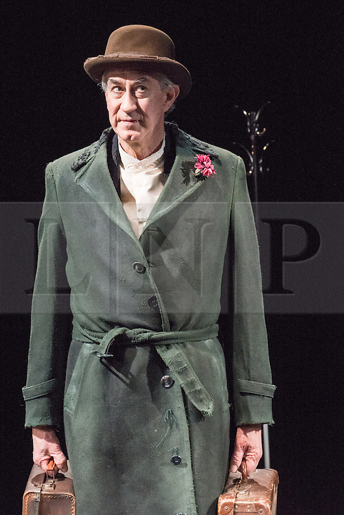 © Licensed to London News Pictures. 26/02/2013. London, UK. The Barbican brings Gate Theatre Dublin's production of Watt to London, adapted for the stage and performed by Barry McGovern from Samuel Beckett's novel of the same name. Part of the Barbican's Dancing around Duchamp season, it stands alongside the best of Beckett's absurdist plays. Photo credit: Tony Nandi/LNP