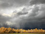 Storm clouds pass above the Beaverhead Mountains, a range of the Rocky Mountains, east of  Salmon, Idaho, on Oct. 17,  2016.  (Cindi Christie/Cyanpixel)