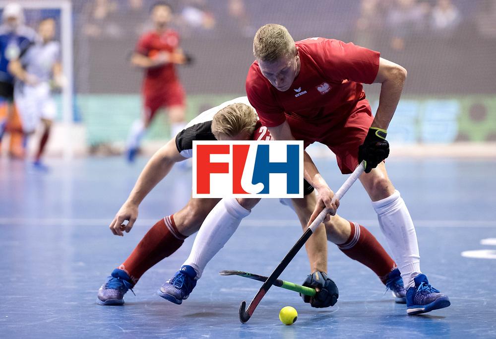 BERLIN - Indoor Hockey World Cup<br /> Quarterfinal 2: Austria - Poland<br /> foto: Michael K&ouml;rper and KASPRZYK Michal.<br /> WORLDSPORTPICS COPYRIGHT FRANK UIJLENBROEK