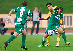 Miral Samardzic of Maribor and Sebastjan Cimirotic of Olimpija at 13th Round of Prva Liga football match between NK Olimpija and Maribor, on October 17, 2009, in ZAK Stadium, Ljubljana. Maribor won 1:0. (Photo by Vid Ponikvar / Sportida)