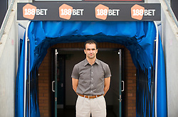 WIGAN, ENGLAND - Monday, August 24, 2009: Wigan Athletic's manager Roberto Martinez in the tunnel at the club's DW Stadium. (Photo by David Rawcliffe/Propaganda)