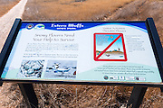 Interpretive sign at Estero Bluffs State Park, Cayucos, California USA