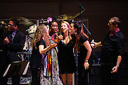 "Herbie Hancock, Tal Wilkenfeld, India Arie, Susan Tedeschi, Krtisina Train and Vinnie Colaiuta at Herbie Hancock's ""Seven Decades: The Birthday Celebration"" at Carnegie Hall. June 24, 2010"