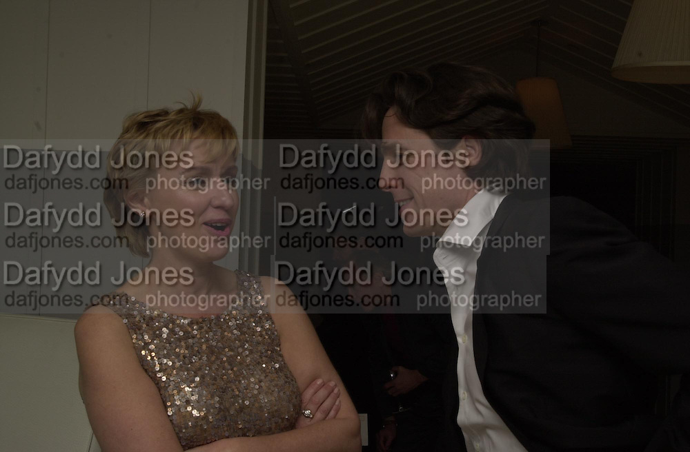 Talk pre-Golden Globes party. Mondrian Hotel. 20 January 2001. © Copyright Photograph by Dafydd Jones 66 Stockwell Park Rd. London SW9 0DA Tel 020 7733 0108 www.dafjones.com<br />