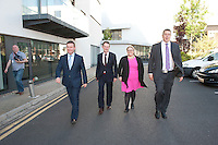 Alan Kelly, Sean Sherlock, Ciara Conway , Michael McCarthy  deputy leader candidates for the Labour Party at the Clayton Hotel Galway. Photo:Andrew Downes