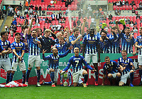 Football - 2019 Buildbase FA Vase Final - Chertsey Town vs. Cray Valley Paper Mills<br /> <br /> Chertsey team celebrate, at Wembley Stadium.<br /> <br /> COLORSPORT/ANDREW COWIE