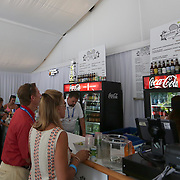 August 16, 2014, New Haven, CT:<br /> Box holders enjoy the Baseline Tap House during WTA All-Access Hour on day three of the 2014 Connecticut Open at the Yale University Tennis Center in New Haven, Connecticut Sunday, August 17, 2014.<br /> (Photo by Billie Weiss/Connecticut Open)