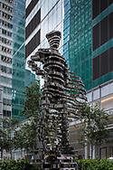 "Sculpture ""The Guardians: Superhero, 2013"" by Antonio Pio Saracino, commissioned by Three Bryant Park; Verizon Plaza, 1095 Avenue of the Americas."