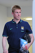 Kevin De Bruyne leaves after a successful debut after the Barclays Premier League match between Crystal Palace and Manchester City at Selhurst Park, London, England on 12 September 2015. Photo by Michael Hulf.