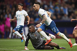 March 22, 2019 - Madrid, Madrid, Spain - Lautaro Martinez (Inter Milan) of Argentina celebrates after scoring his sides first goal during the international friendly match between Argentina and Venezuela at Wanda Metropolitano Stadium in Madrid, Spain on March 22 2019. (Credit Image: © Jose Breton/NurPhoto via ZUMA Press)