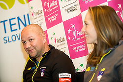 Andrej Krasevec and Kaja Juvan during press conference of Slovenian Women Tennis Team before FedCup Competition 2018, on January 25, 2018 in Tennis Centre Breskvar, Ljubljana, Slovenia.  Photo by Vid Ponikvar / Sportida