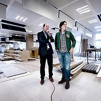 Nederland, Amsterdam , 4 april 2012.. Ralph Wisburn en Bas Korsten van reclameburau Ubach Wisburn/JWT op de nieuwe locatie van het bureau op Leidseplein 29..Foto:Jean-Pierre Jans