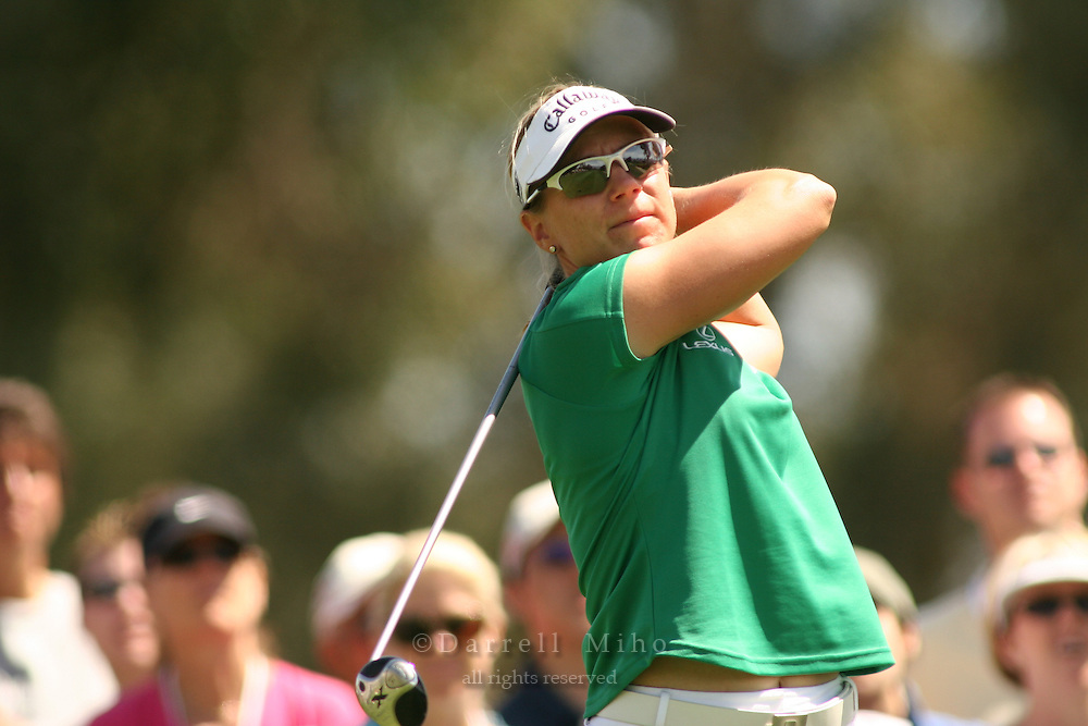 Apr. 2, 2006; Rancho Mirage, CA, USA; Annika Sorenstam tees off during the final round of the Kraft Nabisco Championship at Mission Hills Country Club. ..Mandatory Photo Credit: Darrell Miho.Copyright © 2006 Darrell Miho .
