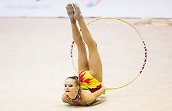 Karmen Petan of Slovenia competes during 27th MTM - International tournament in rhythmic gymnastics Ljubljana, on April 19, 2014 in Arena Krim, Ljubljana, Slovenia. Photo by Vid Ponikvar / Sportida