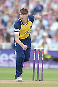 Chris Woakes during the NatWest T20 Blast semi final match between Northamptonshire County Cricket Club and Warwickshire County Cricket Club at Edgbaston, Birmingham, United Kingdom on 29 August 2015. Photo by David Vokes.