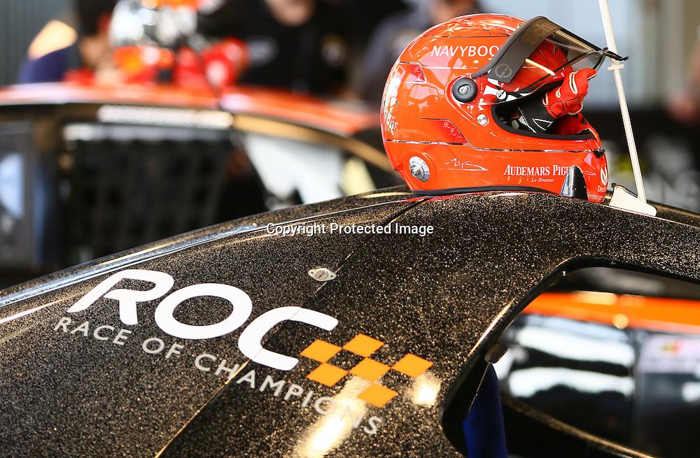 Dec 15, 2012; Bangkok, THAILAND; Michael Schumacher, Sebastian Vettel, David Coulthard and Romain Grosjean have arrived in Bangkok for the Race Of Champions.