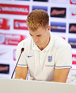 Joe Hart of England during the England press conference at Est&aacute;dio Claudio Coutinho, Rio de Janeiro<br /> Picture by Andrew Tobin/Focus Images Ltd +44 7710 761829<br /> 21/06/2014
