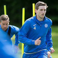 St Johnstone FC Training….Blair Alston pictured during pre-season training.<br />Picture by Graeme Hart.<br />Copyright Perthshire Picture Agency<br />Tel: 01738 623350  Mobile: 07990 594431