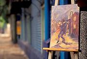 Tango scene painting, Buenos Aires, Argentina.